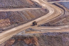 Open Cast Gold Mine, Cripple Creek, Colorado, USA (Geraldine Curtis) Tags: molliekathleengoldmine cripplecreek colorado usa opencastgoldmine tourguide hardhat mountains fallcolours dumptruck