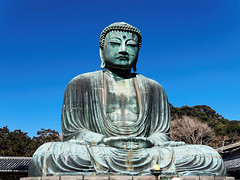 Zen (Garry Shu) Tags: japan japon kamakura daibutsu statue sky blue temple zen sony rx100 bouddha travel instagram happyplanet asie asia