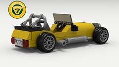 Caterham (revised) (rear) (LegoGuyTom) Tags: