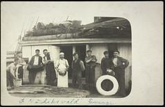 Postkort fra Agder (Avtrykket) Tags: mannskap postkort seilskute grimstad austagder norway nor