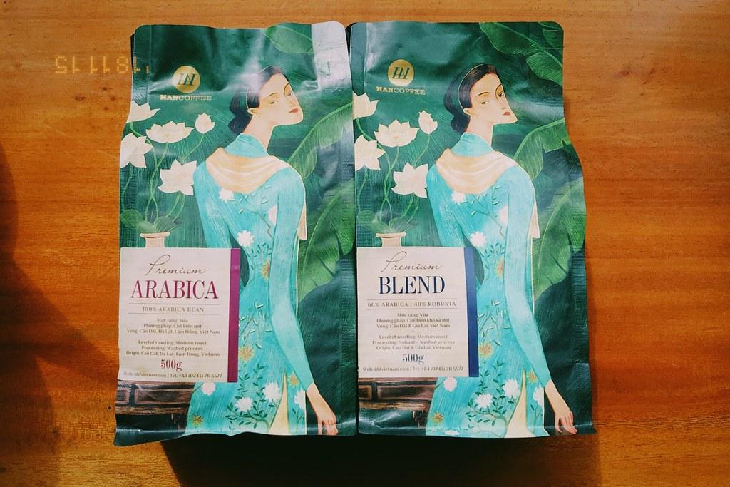 Arabica và Blend của dòng HANCoffee Premium