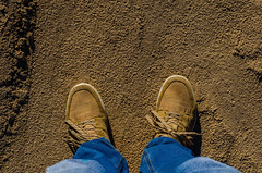 Guy in sneakers (ivan_volchek) Tags: shoes shoe isolated pair fashion leather footwear white brown clothing beach foot boots boot old summer sand two feet casual blue men black nobody slippers