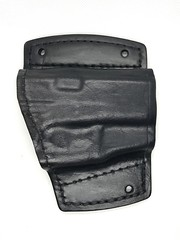 Glock 42 Car Holster With Laser (americanleathersmith) Tags: carholster leatherholster gunholster concealcarry holster mounted leather