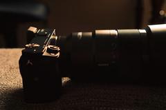 The beast in golden light (frankdorgathen) Tags: stillleben stilllife dark lens objektiv kamera camera alpha6000 sony sony35mm sony90mm