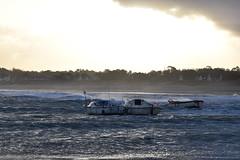 3676 Storm in the harbor (Realmantis) Tags: storm harbor ocean boat