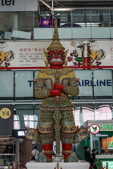 God statue in Suvarnabhumi Airport (phuong.sg@gmail.com) Tags: airline airport airways architecture asia asian avia aviation bangkok body city civil color contemporary editorial giant green indoor interior international journey modern ravana skin statue suvarnabhumi terminal thai thailand tosakanth tourism transport transportation travel trip urban vacation voyage