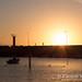 As the sun sets at the La Aldea shore