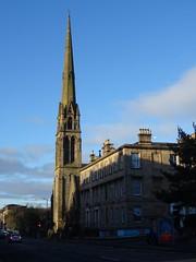Kelvinbridge spire (Wider World) Tags: glasgow lansdowne scotland westend kelvinbridge spire sandstone tenement neogothic