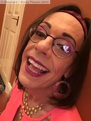 October 2018 (Girly Emily) Tags: crossdresser cd tv tvchix trans transvestite transsexual tgirl tgirls convincing feminine girly cute pretty sexy transgender boytogirl mtf maletofemale xdresser gurl glasses dress hull smile
