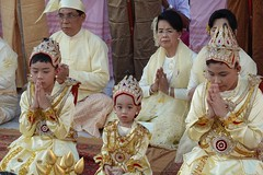Ordination ceremony for novice Buddhist monks, Shwedagon Pagoda, Yangon (15) (Prof. Mortel) Tags: myanmar burma yangon rangoon buddhist pagoda shwedagon monks