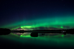 aurora borealis (French_landscape_photographer) Tags: stars night rauma satakunta finland lake reflections nightscape auroreboréale auroraborealis northernlight