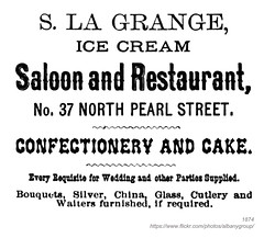 1874 LaGrange Saloon and Restaurant (albany group archive) Tags: albany ny history 1874 lagrange saloon restaurant confectionery north pearl street ice cream 37 1870s old vintage photos picture photo photograph historic historical