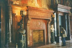 Boston Massachusetts -  Main Library - Original Fireplace  and Murals 1880 - Vintage Photo - (Onasill ~ Bill Badzo) Tags: boston ma mass massachusetts downtown courtyard historic nrhp landmark public library copley square mckim mead white architect style architecture renaissance building 1895 palace monumental palazzo delta cancelleria rome cloister fountain sculpture plaza macmonnies onasill old vintage section original fireplace murals vintagephoto