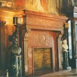 Boston Massachusetts -  Main Library - Original Fireplace  and Murals 1880 - Vintage Photo - thumbnail