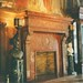 Boston Massachusetts -  Main Library - Original Fireplace  and Murals 1880 - Vintage Photo -