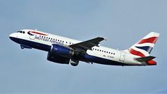 G-EUPY (AnDyMHoLdEn) Tags: britishairways a319 oneworld egcc airport manchester manchesterairport 23r