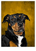 mack (Lynn Adams Illustration) Tags: dog portrait digital art illustration doberman
