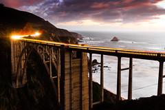 Cool Bridge (leakylightbucket) Tags: bridge bixby bigsur california landscapephotography pacific ocean sunset clouds longexposure