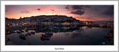 Brixham Panoramic Sunset (flatfoot471) Tags: 2016 boats bracketed brixham devon dusk england fishing harbour holiday july market panoramic summer sunset twilight unitedkingdom 18125sigma