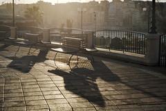 Sunset shadows, Sliema, Malta (Jacek Rudowski) Tags: sunset shadows malta sliema silhouettes shadow lightandshadow lightandshadows golden city bench benches empty lamps lampposts outdoors street cityscape sidewalk pathway footpath fence architecture