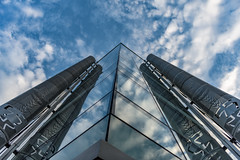 No 55... (Aleem Yousaf) Tags: 55 new oxford street look up glass reflections modern architecture clouds sky lines london central photography walk photo buildings windows nikon nikkor 2470mm camera digital world outside outdoor