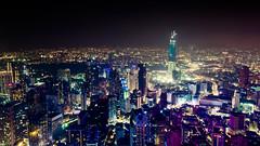 Pink city (Cédric Nitseg) Tags: night kualalumpur nikon malasia city nuit greelow malaisie voyage urban backpacker travel tower building lumière dark travelling d7000 ville light urbain
