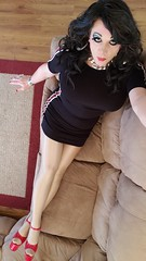 Racing Stripes (therealdavinawayne74) Tags: boi boytogirl crossdressing crossdresser crossdressed capeziotights crossdress capeziopantyhose dragmakeup dragqueen drag femme highheels hosiery heels m2f maletofemale minidress makeup nylon nylons platformheels pantyhose stilettoheels strappyheels transvestite tgirl tights tranny