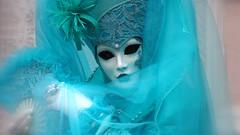 Daydreaming Part III (ej - light spectrum) Tags: carnevale venezia venice venedig 2017 february olympus omd em5markii italy italien mask maske kostüm costume lady dress dreamy verträumt turquoise türkis ヴェネツィア 威尼斯 狂歡節