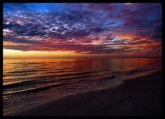 Saturated Sunset (michellewendling907) Tags: beach sunset saturated florida fortmyersbeach vacation colorful clouds gulf ocean