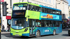 Arriva Merseyside BT66 MTK 4803 (WY Bus Spotter) Tags: arriva merseyside bt66mtk 4803 volvo b5lh wright wrightbus west yorkshire bus spotter wybs hybrid transport green lane depot livery derby square liverpool