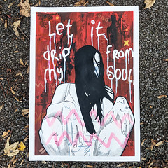 Let it drip from my soul (id-iom) Tags: drip soul girl woman lady ebay sale painting modern contemporary pop urban red