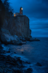 Split Rock Lighthouse Illuminated 20181110-DSC01054 (Rocks and Waters) Tags: greatlakes lakesuperior minnesota shore splitrocklighthouse zeiss a7r2 bluehour clouds landscape lighthouse night sonnartfe1855 sony water winter