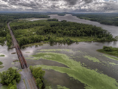 Stockport Creek Bridge (milfodd) Tags: july 2018 hdr aerialphotography quadcopter dji drone phantom4pro hudsonvalley