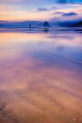 02 Haystack Rock at Cannon Beach - 2nd Place Scenics - William Horton (RMOWP) Tags: cannonbeach haystackrock oregon oregoncoast pacific pacificocean beach fog ocean sunset