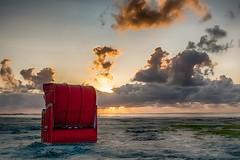 Sunset at the North Sea (muman71) Tags: dscf8563 hdr nordsee sonnenuntergang fuji xe1 germany 2018 strand wattenmeer ebbe