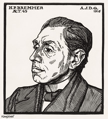 Portrait of Hendricus Petrus Bremmer (1916) by Julie de Graag (1877-1924). Original from the Rijks Museum. Digitally enhanced by rawpixel. (Free Public Domain Illustrations by rawpixel) Tags: antique artwork bremmer character drawing handdrawn hendricus hendricuspetrusbremmer illustrated illustration illustrator juliedegraag old pdrijks portrait publicdomain rijksmuseum sketch stamp vintage woodcut