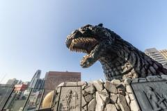 Godzilla (tmeallen) Tags: godzilla moviemonster legendary statue famous hotelgracery shinjuku skyscrapers big teeth travel culture tokyo japan