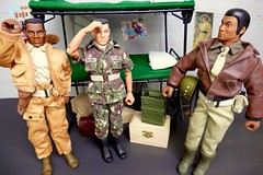 Attention! - Life In The Barracks (MayorPaprika) Tags: panasoniclumixdmcfz1000 16 custom diorama toy story paprihaven action figure set doll barracks gijoe bunk beds