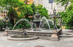City Hall Fountain (Eridony (Instagram: eridony_prime)) Tags: newyorkcity newyorkcounty newyork nyc manhattan lowermanhattan civiccenter fountain