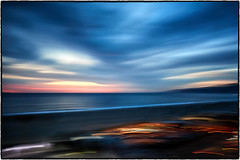 Santa Monica/Malibu. (drpeterrath) Tags: landscape seascape santamonica malibu california losnageles calilife sunset bluehour clouds sun sky water beach pacific ocean abstract art canon eos5dsr 5dr 5dsr color outdoor longexposure icm