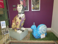 Mr Shell Blob and Mrs Cat (wallygrom) Tags: england sussex eastsussex brighton snailtrail sculpturetrail snailspace bemoresnail sculptures