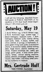 1951 - Gertrude Huff moves from 211 E South - Enquirer - 17 May 1951