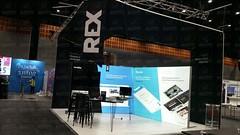 REX Stand ('we bring brands to life') Tags: bespoke blackout feet sidemountfoot illuminated backlitpoly ds102 exhibition afibranding