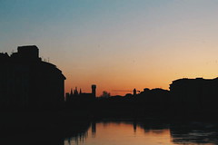 Reflections (gius_laino) Tags: sunset tramonto pisa lungarno reflections arno fiume sky clouds skyline cielo acqua crepuscolo