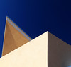 Immersed in Blue (studioferullo) Tags: abstract architecture art beauty bright building colorful colourful colors colours contrast dark design detail downtown edge geometric light lines minimalism perspective pattern pretty scene sky study sunlight sunshine street texture tone world angle diagonal blue museum albuquerque newmexico