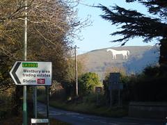 the white horse westbury. (rharwood75) Tags: white horse westbury trees sky green leaves