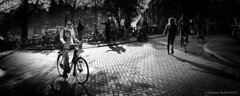 Street Scene-BP81993bw-panorama (Rob Blok / BLOK PHOTO) Tags: street bikes bridge amsterdam amsterdamstreetphotography nikon fx 24mm panorame blackwhite highcontrast blokphoto robblokphotography robblokfotografie