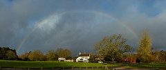 336-2018-365 Rainbow at Tilford (Explored) (graber.shirley) Tags: winter weather trees swsw