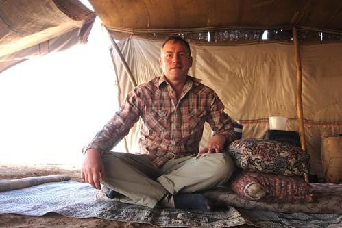 In Castro's tent