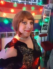 XMas 2018 3 (eileen_cd) Tags: redhead xmas th club chocker dress crossdresser transvestite cd tv selfie